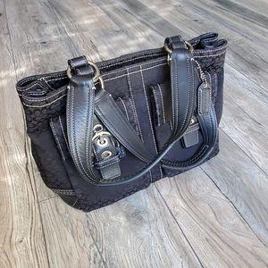 COACH Signature Black Shoulder Bag